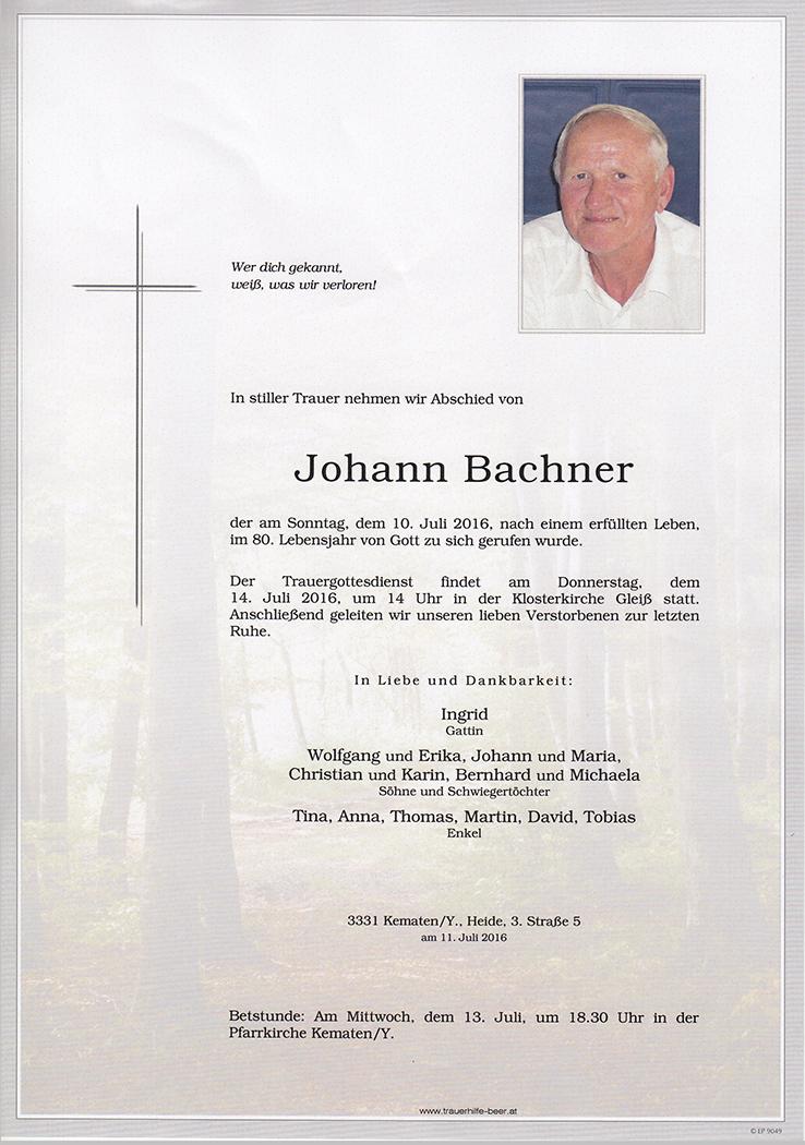 Johann Bachner