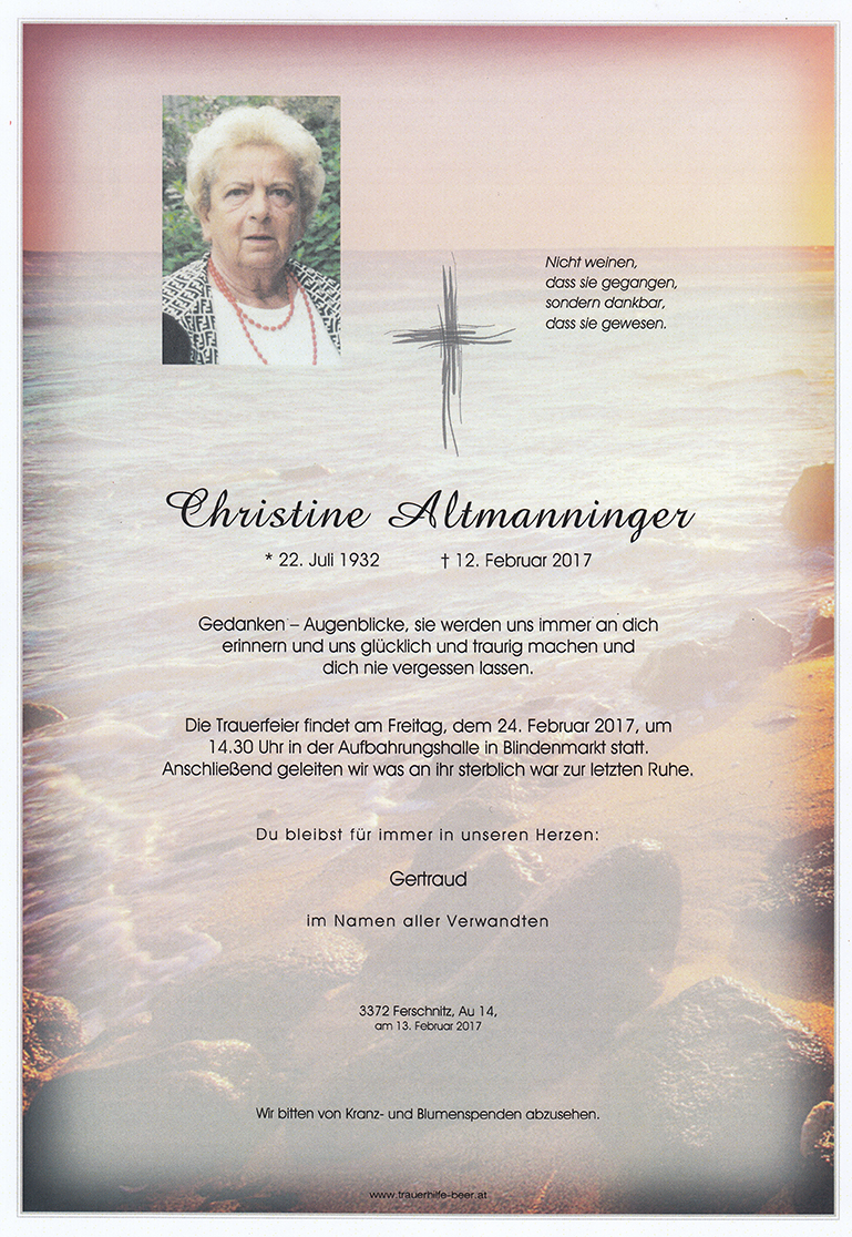 Christine Altmanninger
