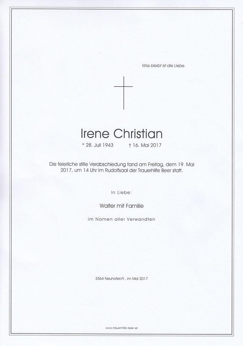 Irene Christian