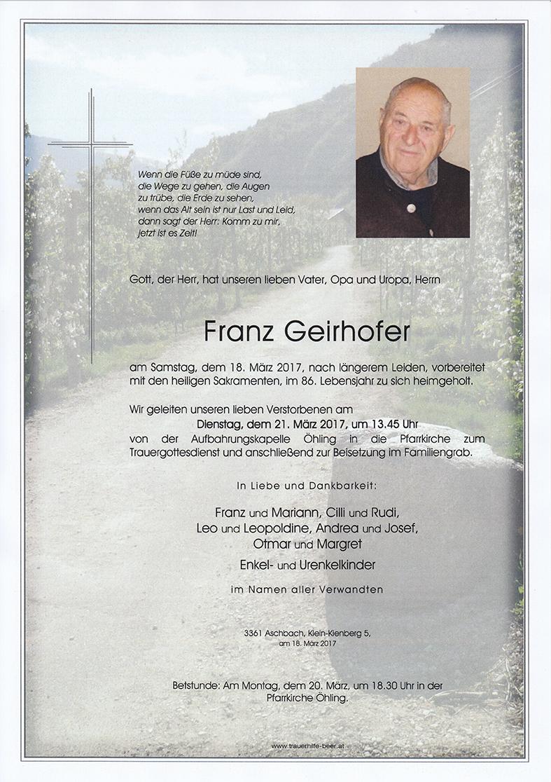 Franz Geirhofer