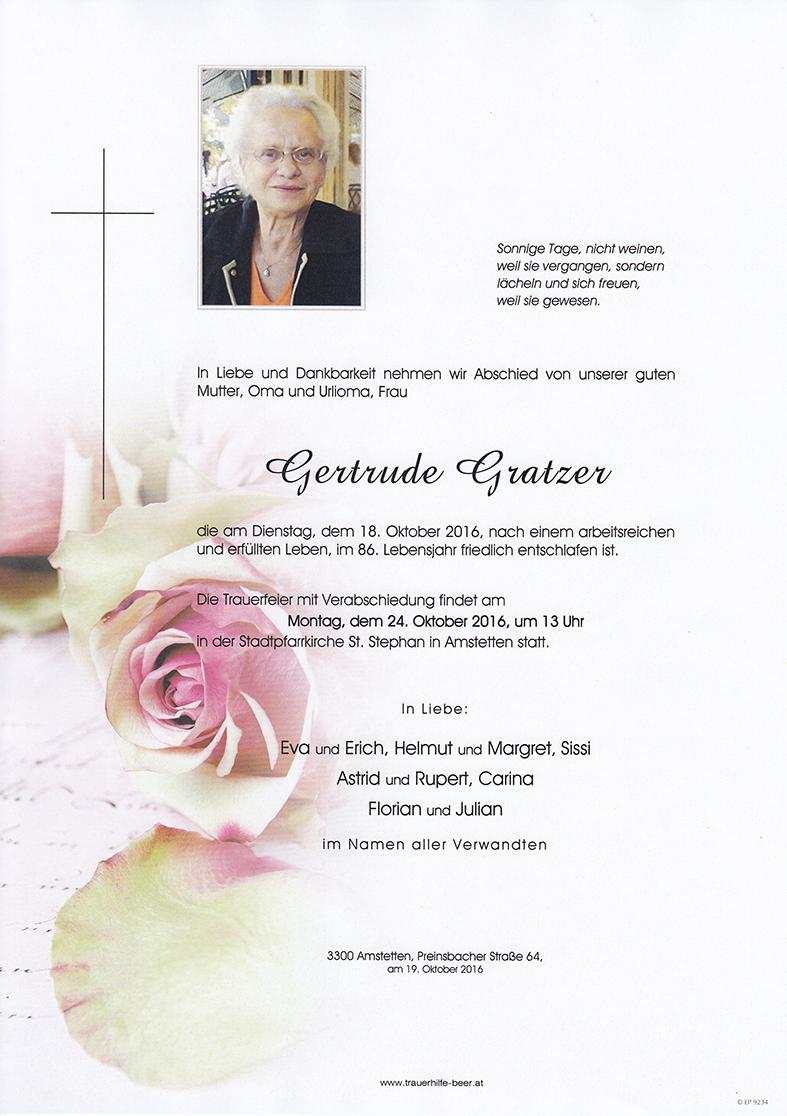 Gertrude Gratzer