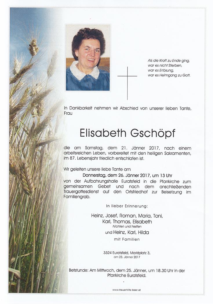 Elisabeth Gschöpf