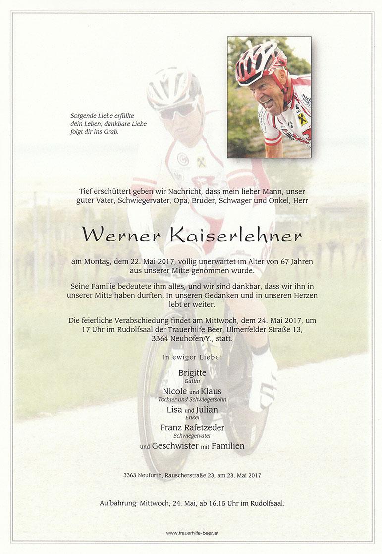 Werner Kaiserlehner