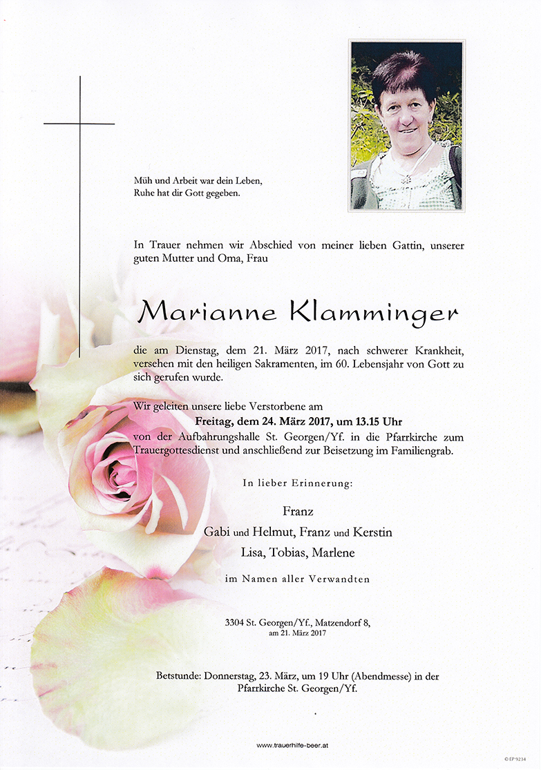 Marianne Klamminger