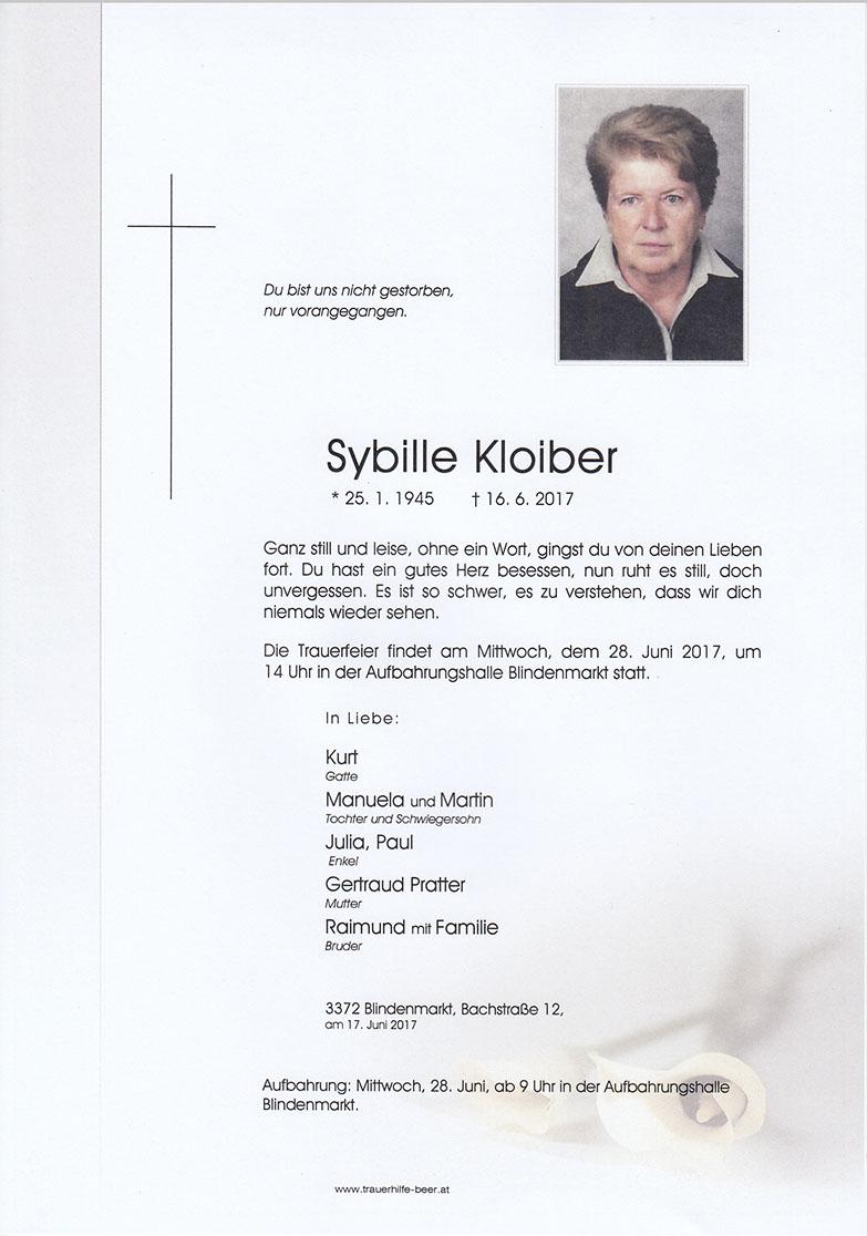 Sybille Kloiber