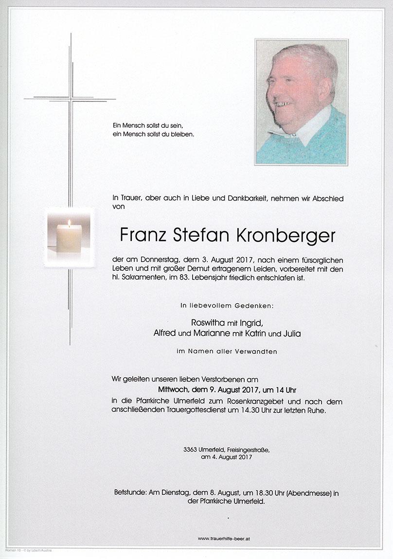 Franz Stefan Kronberger