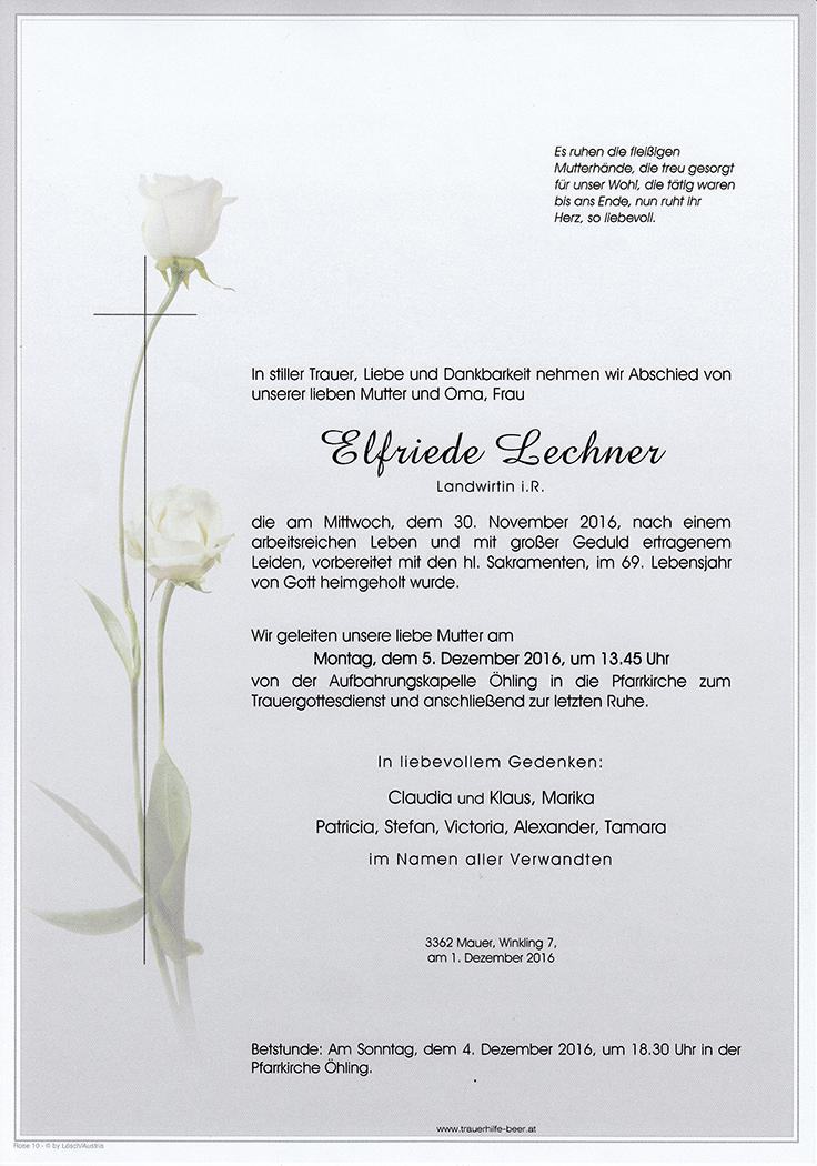 Elfriede Lechner