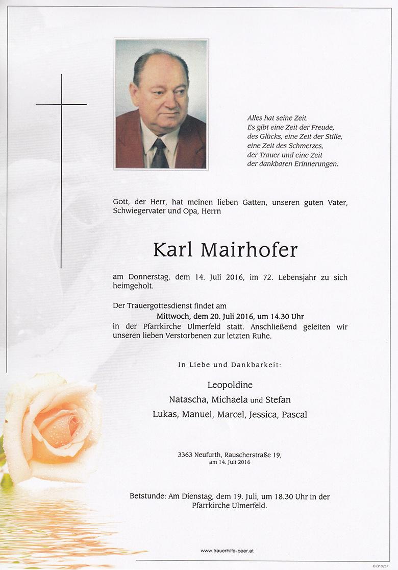 Karl Mairhofer