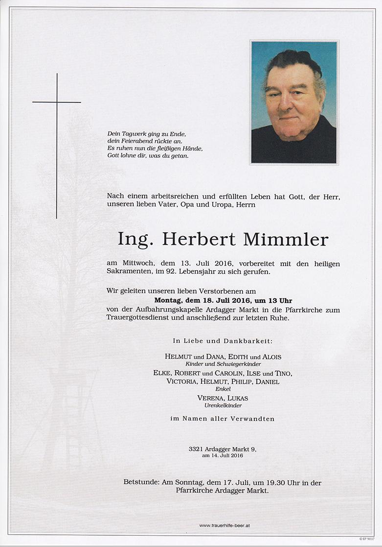 Ing. Herbert Mimmler