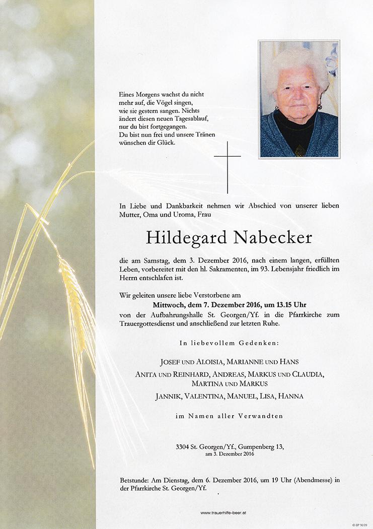 Hildegard Nabecker