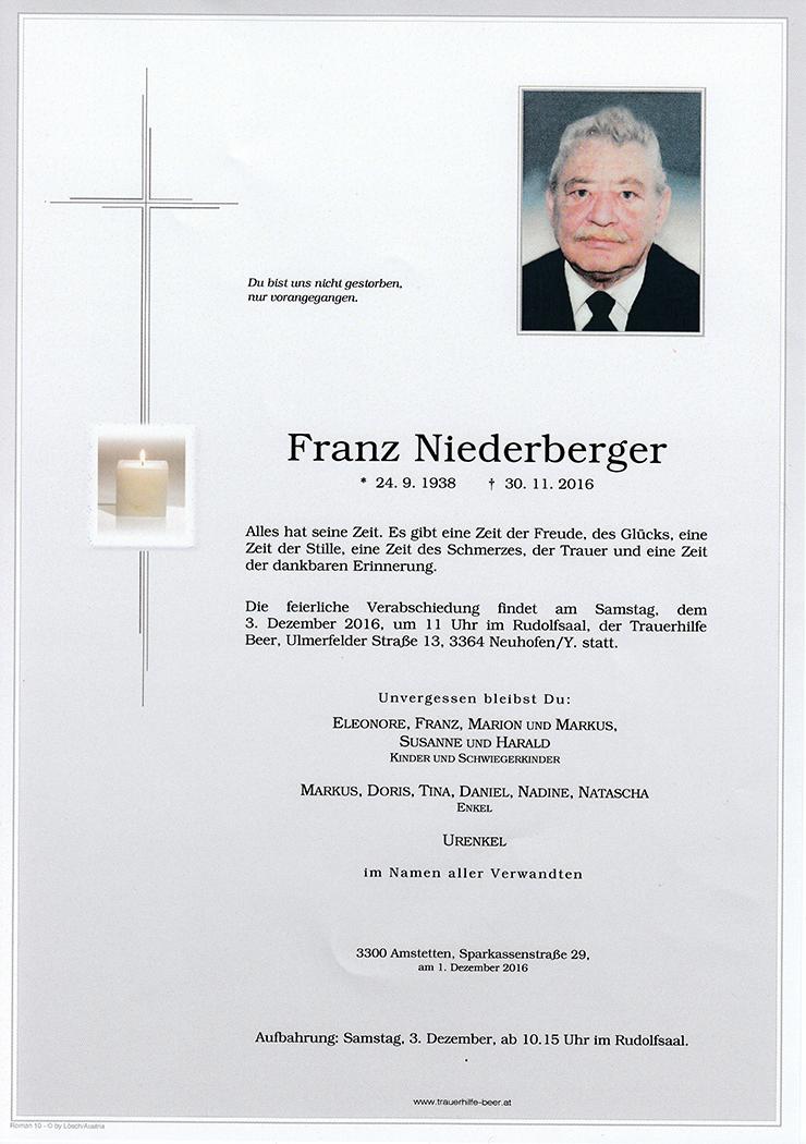 Franz Niederberger