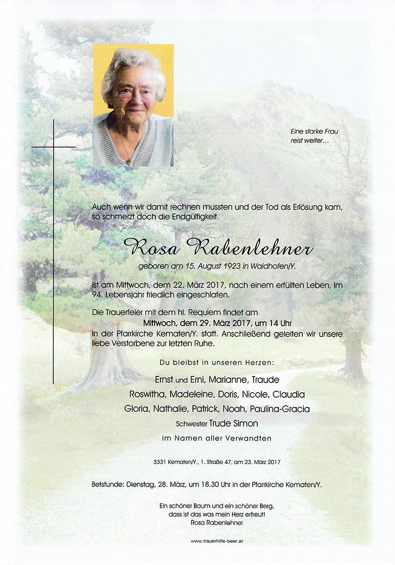 Rosa Rabenlehner
