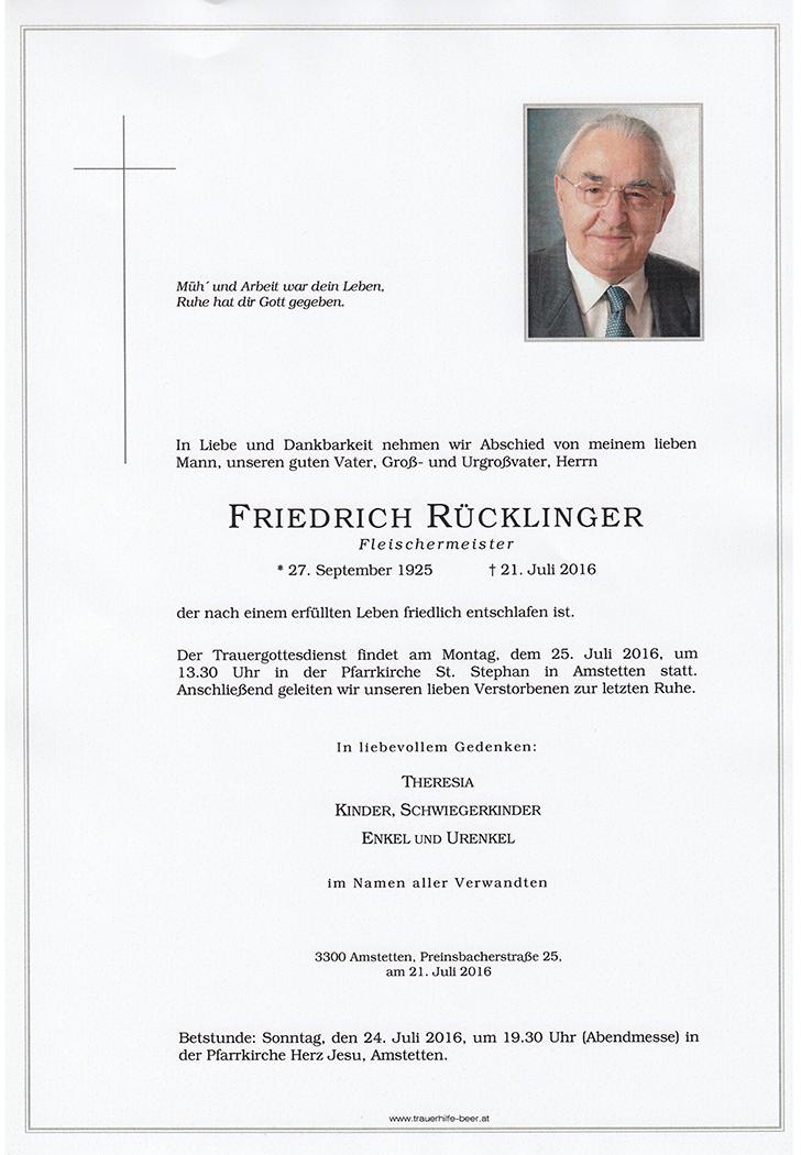 Friedrich Rücklinger