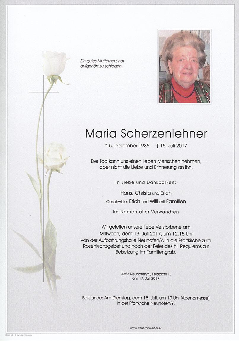 Maria Scherzenlehner