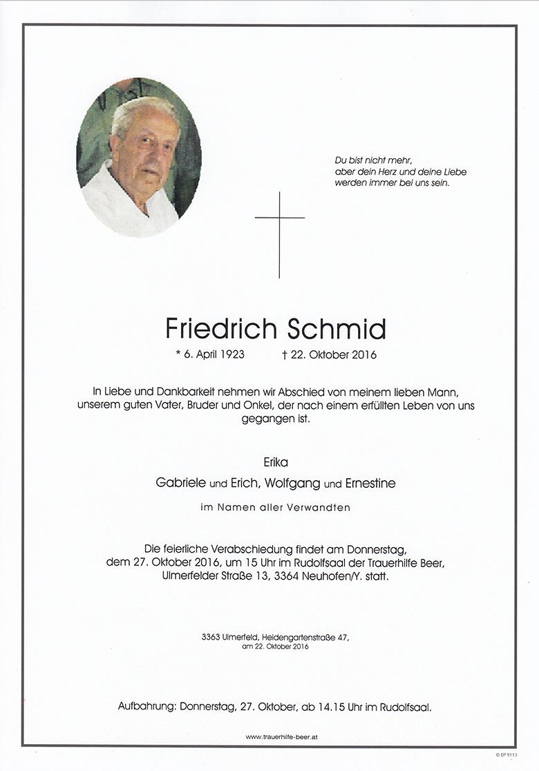 Friedrich Schmid