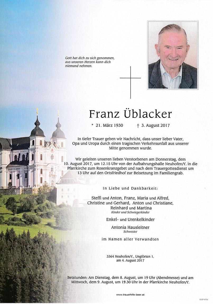 Franz Üblacker