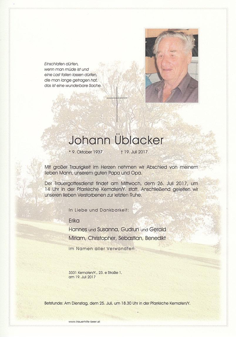 Johann Üblacker