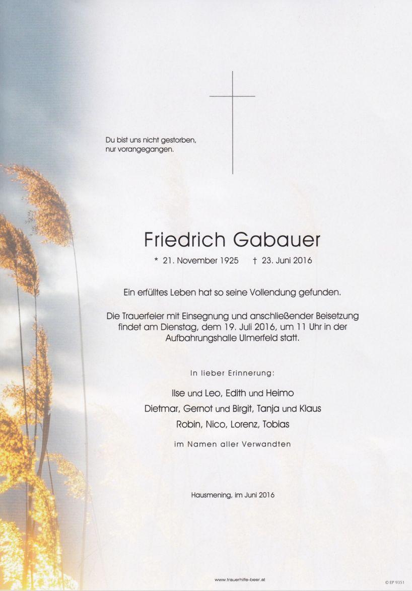 Friedrich Gabauer