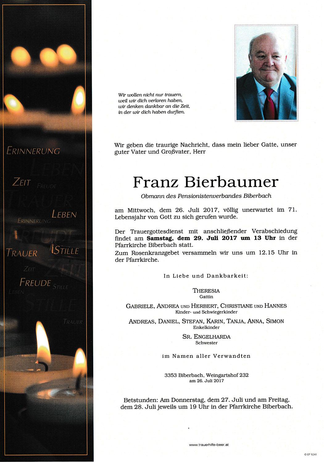 Bierbaumer Franz