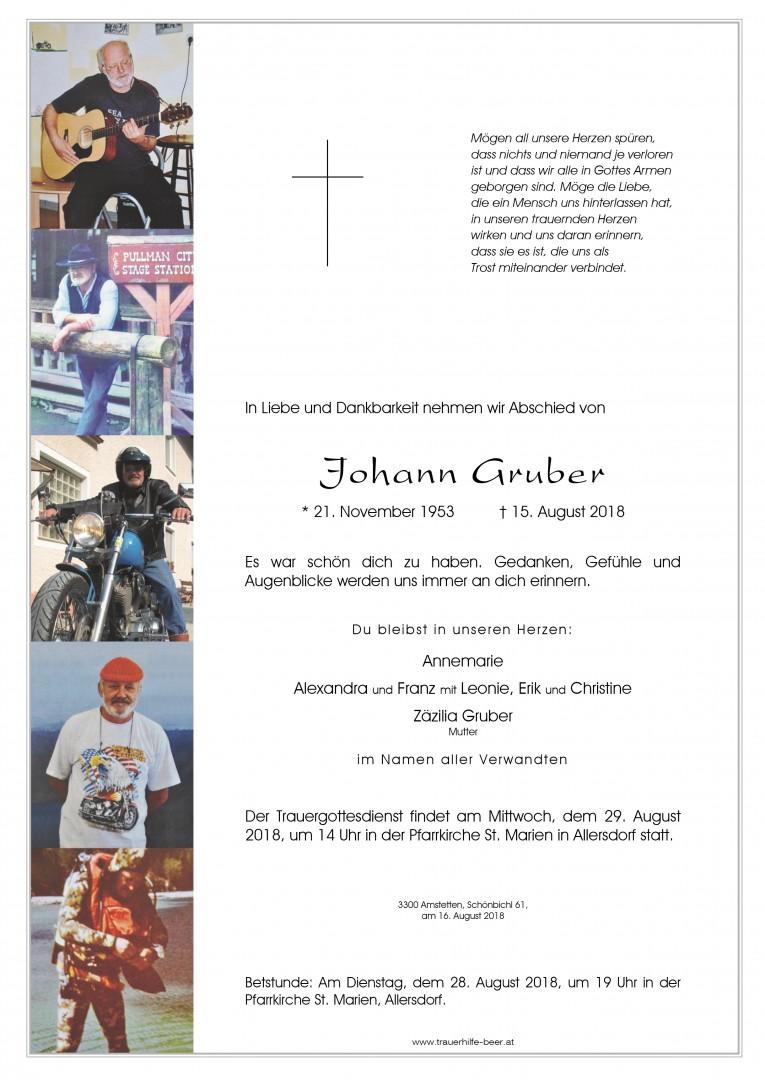 Parte Johann Gruber