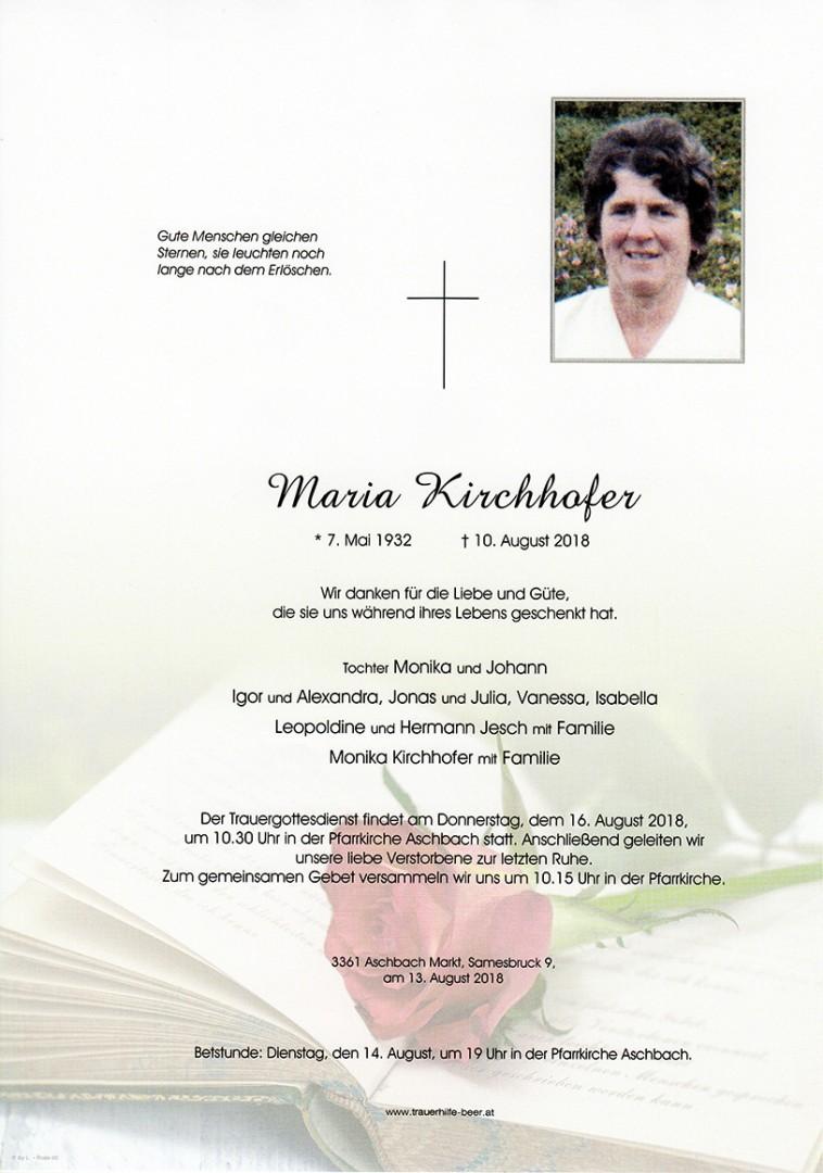 Parte Maria Kirchhofer