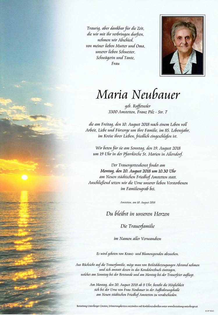 Parte Maria Neubauer