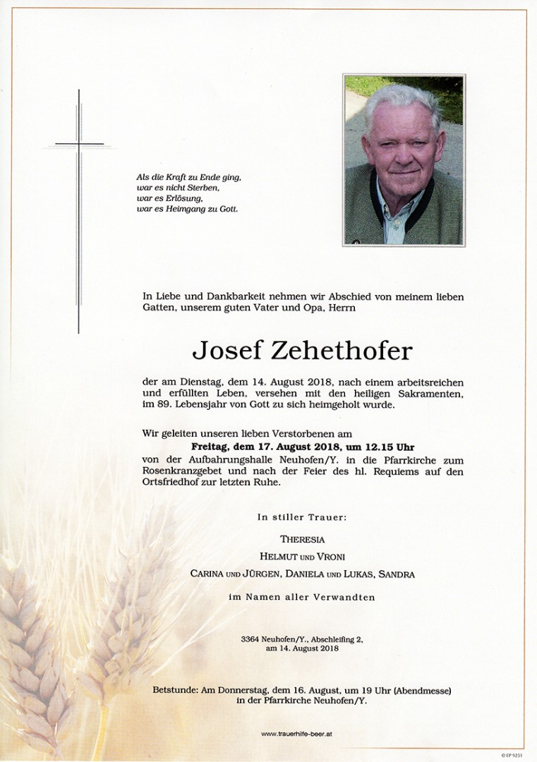 Parte Josef Zehethofer