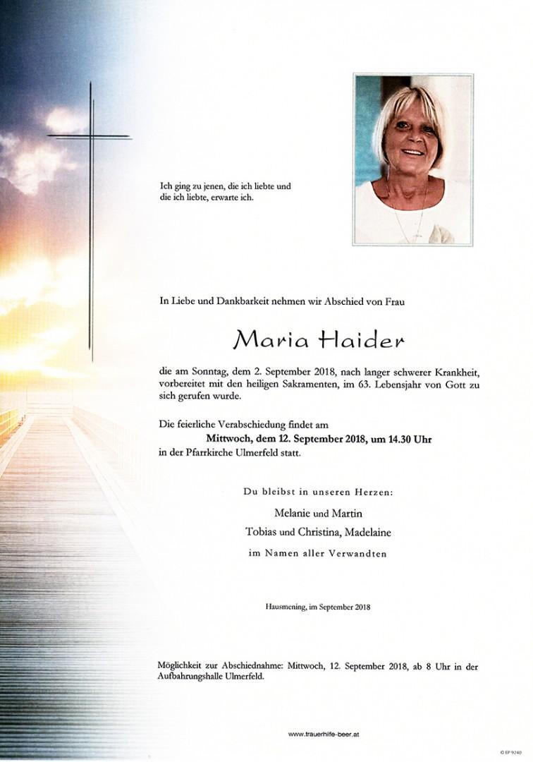 Parte Maria Haider