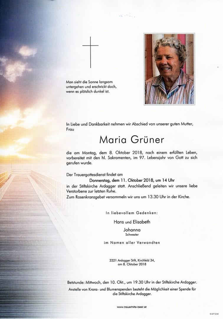 Parte Maria Grüner