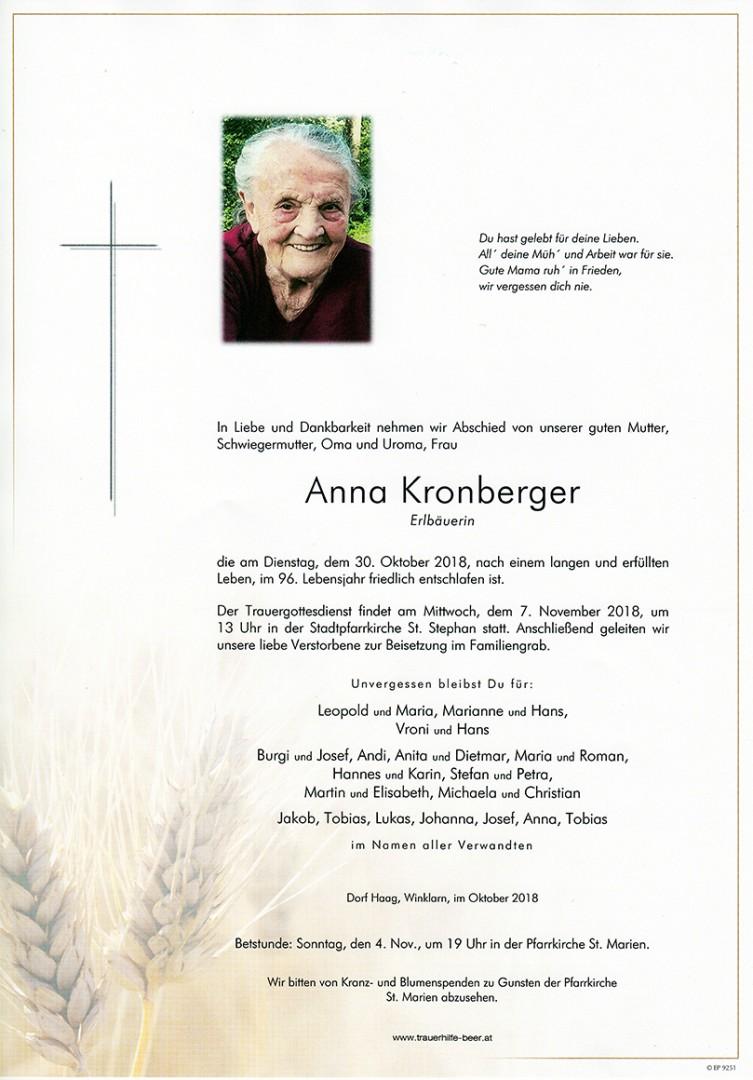 Parte Anna Kronberger
