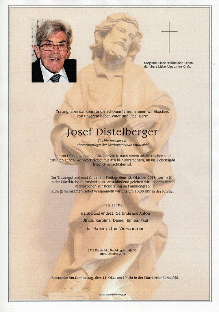 Parte Josef Distelberger