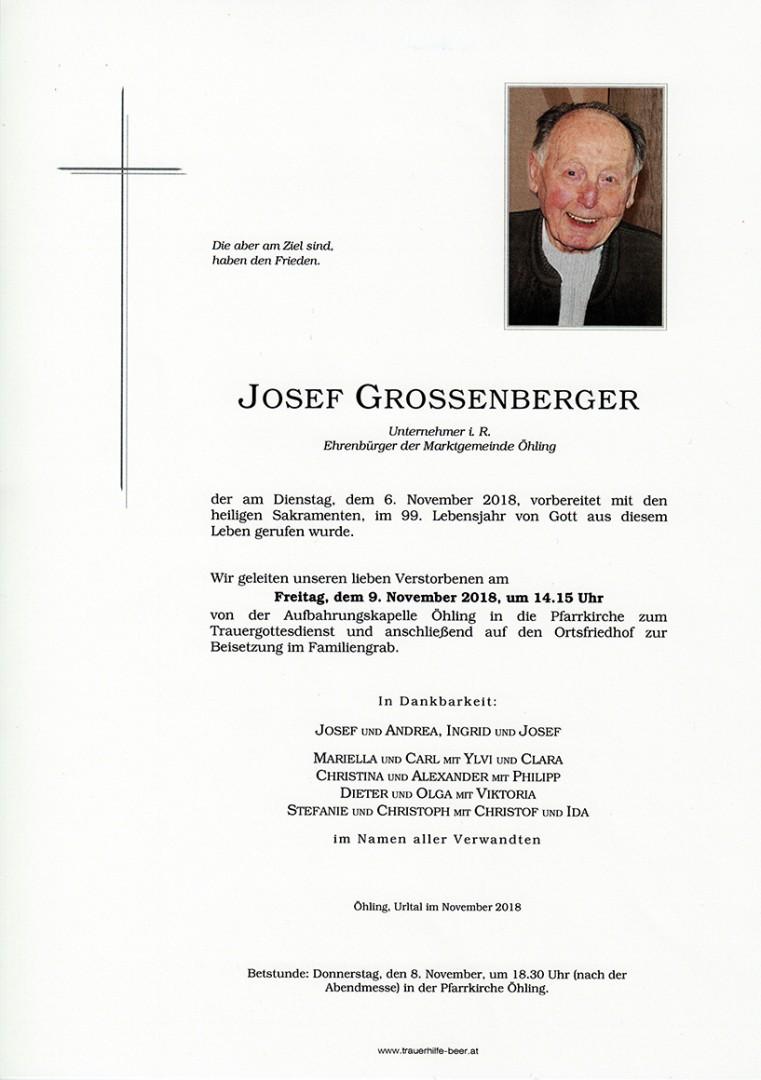 Parte Josef Grossenberger