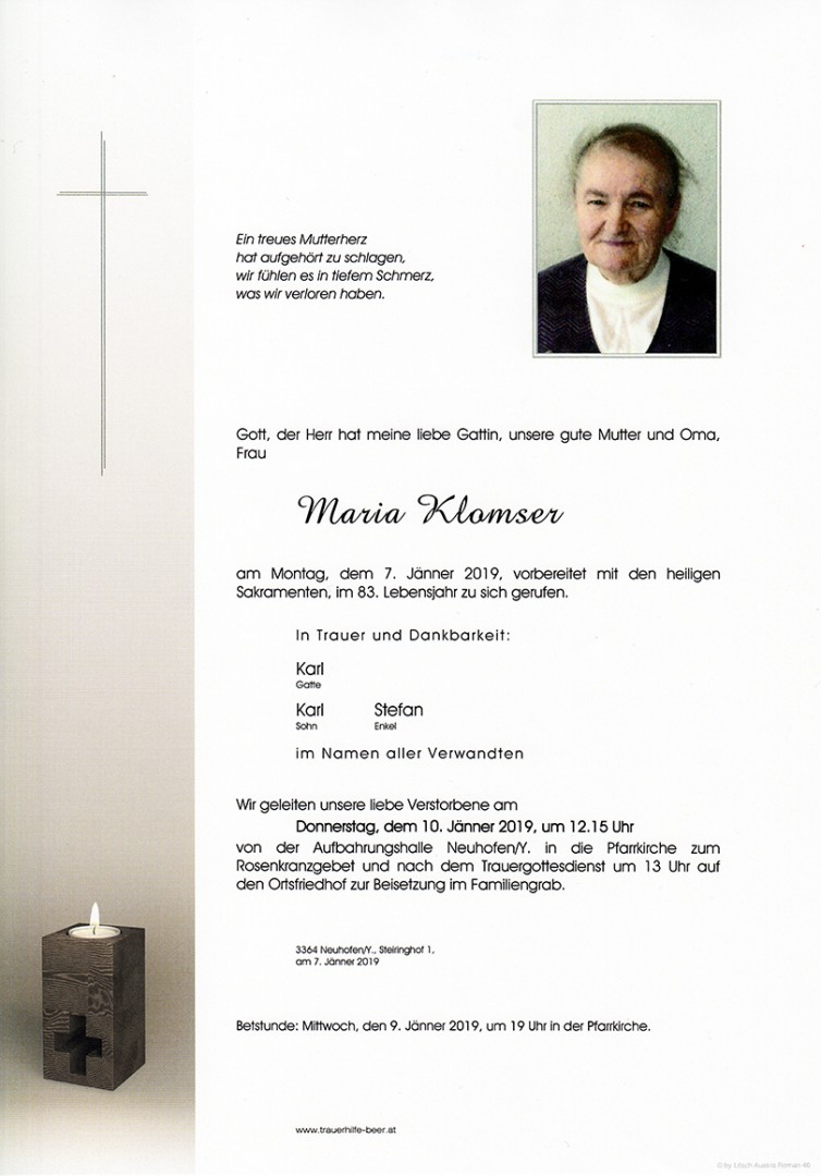 Parte Maria Klomser