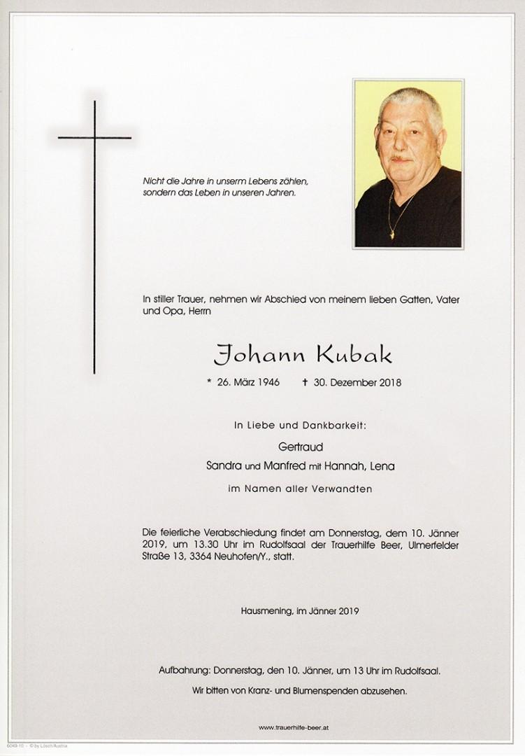 Parte Johann Kubak
