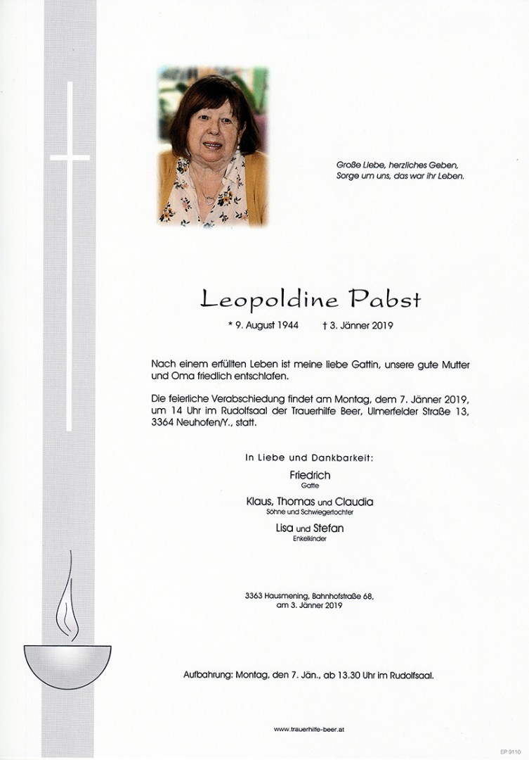 Parte Leopoldine Pabst