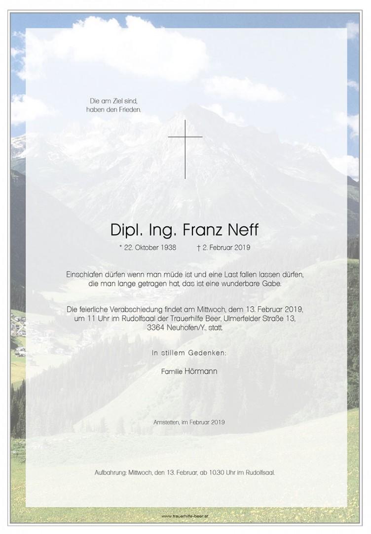 Parte Dipl. Ing. Franz Neff