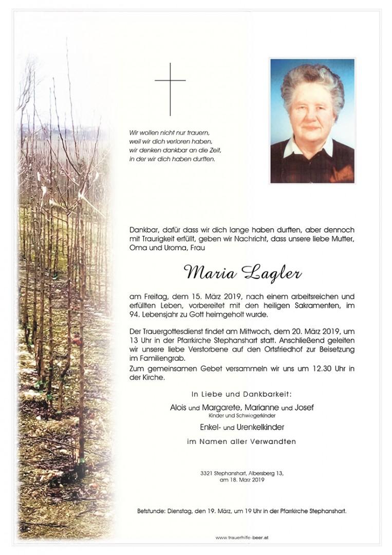 Parte Maria Lagler