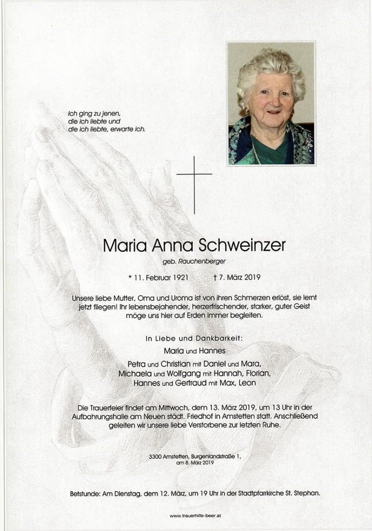Parte Maria Anna Schweinzer