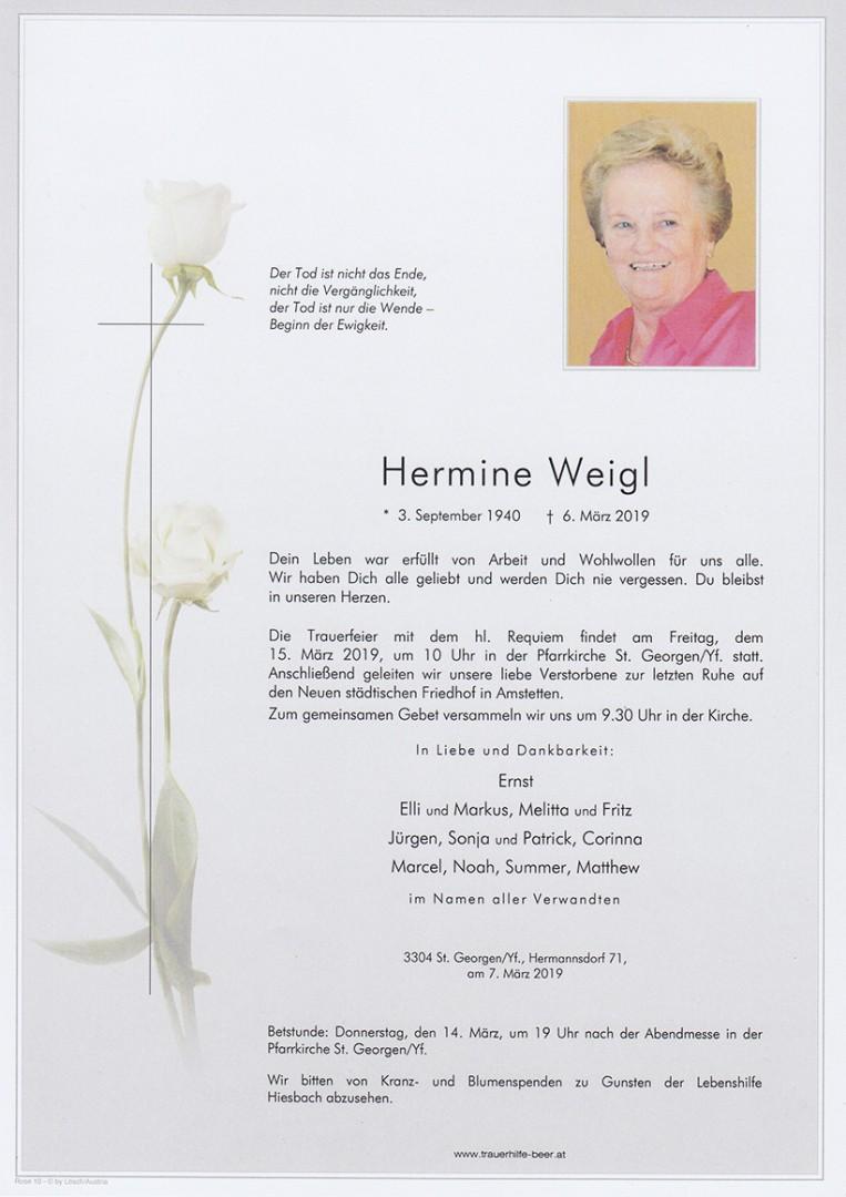Parte Hermine Weigl