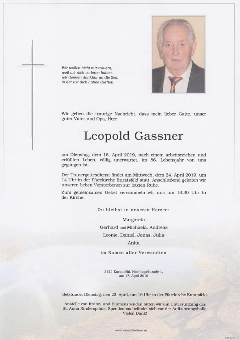 Parte Leopold Gassner