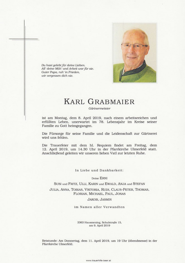 Parte Karl Grabmaier