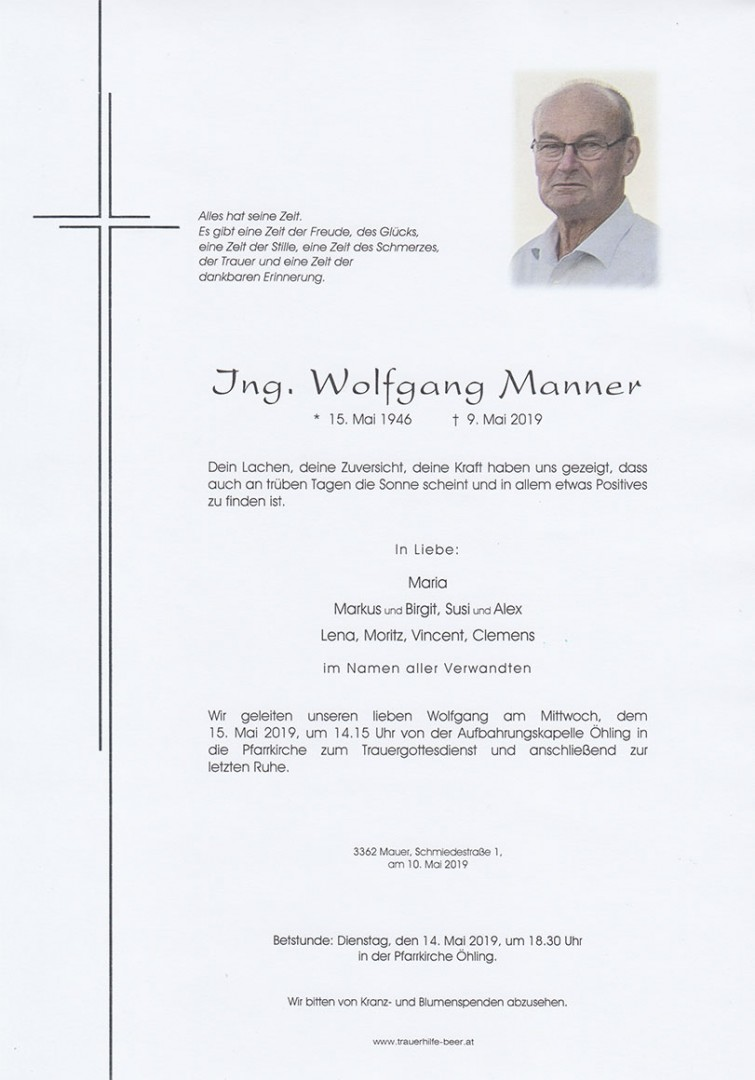 Parte Ing. Wolfgang Manner