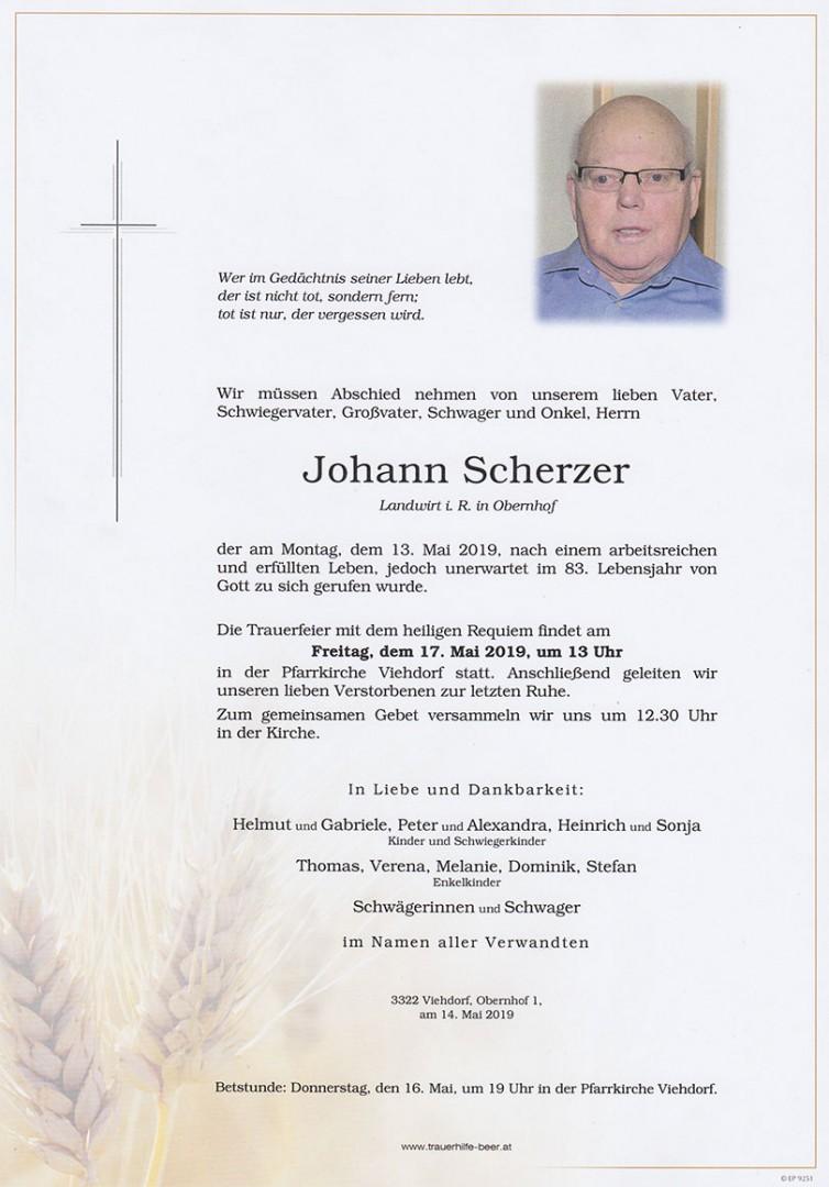 Parte Johann Scherzer