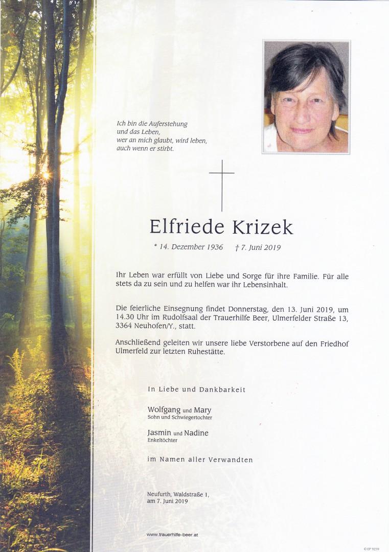 Parte Elfriede Krizek