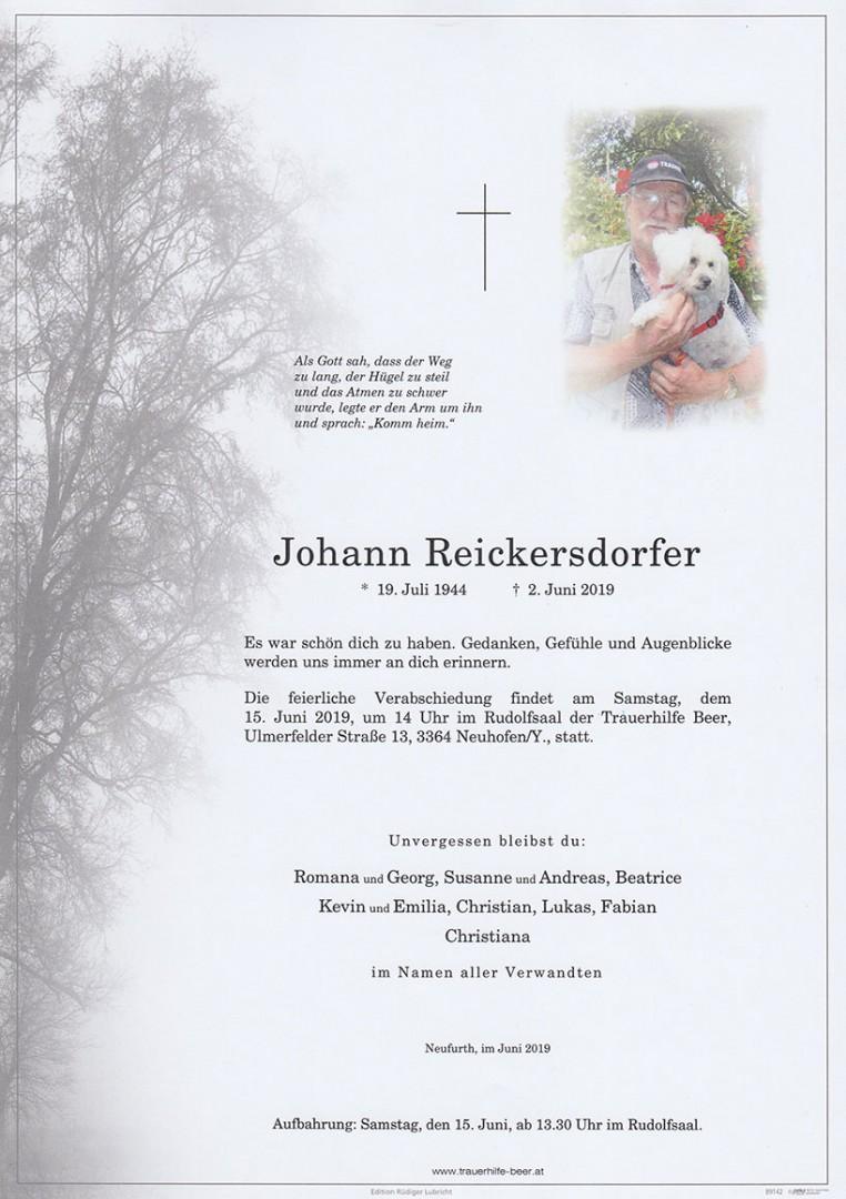 Parte Johann Reickersdorfer