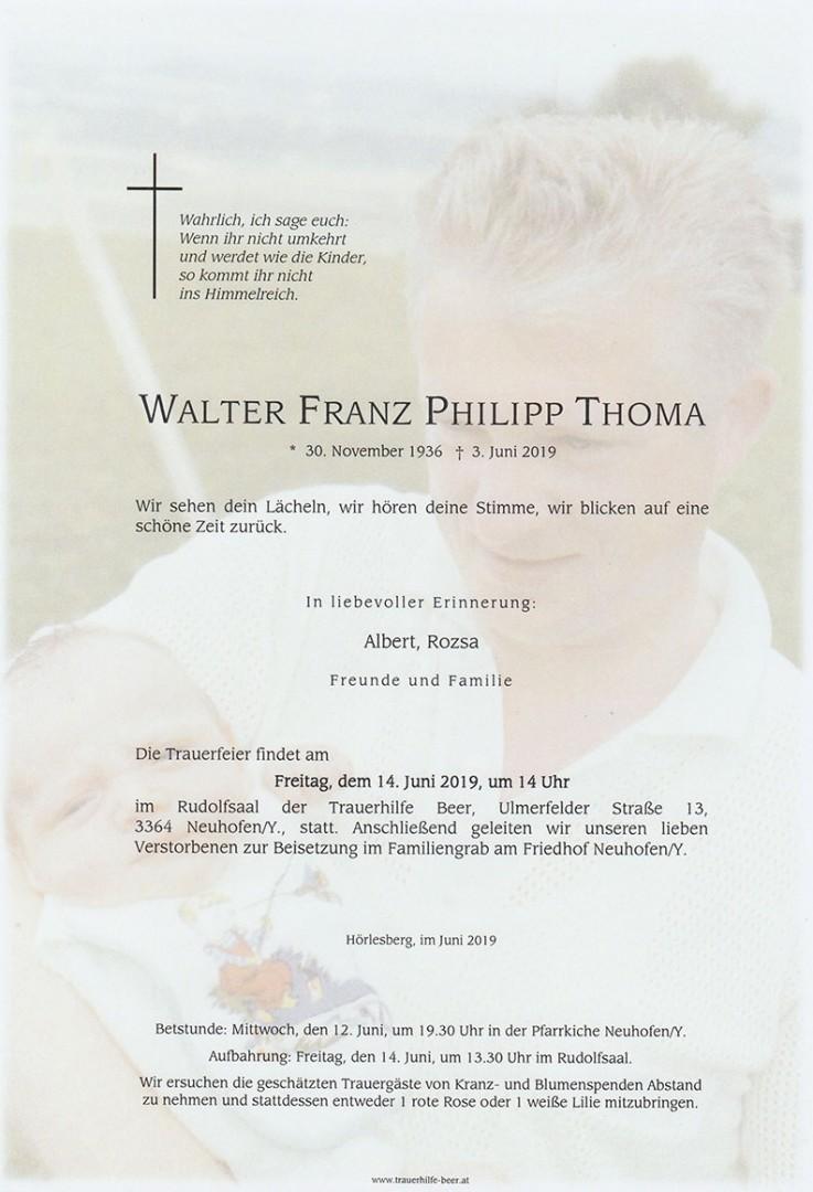 Parte Walter Franz Philipp Thoma