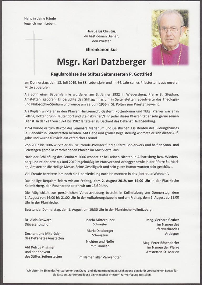 Parte Msgr. Karl Datzberger