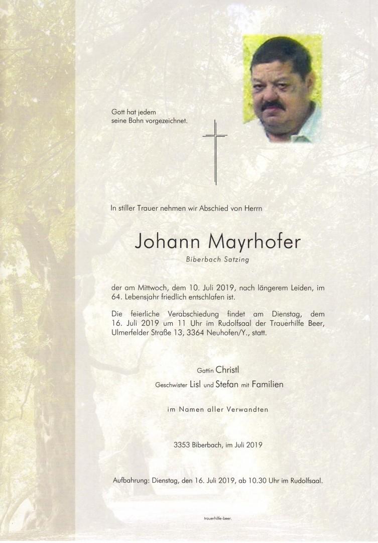 Parte Johann Mayrhofer
