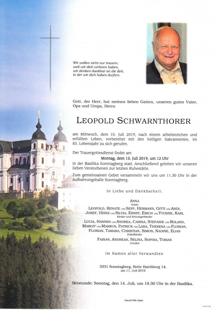 Parte Leopold Schwarnthorer