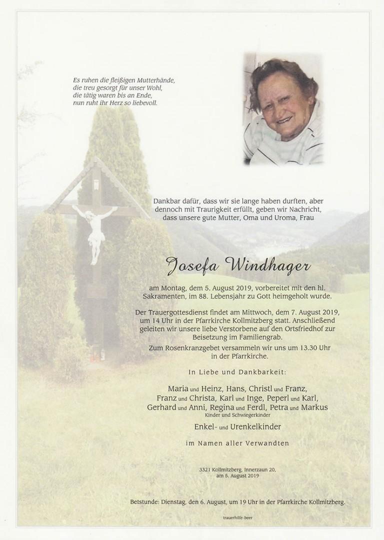 Parte Josefa Windhager